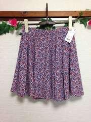 定価1990円◆ユニクロ◆小花柄 フレア サーキュラースカート M