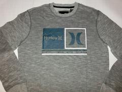 USA購入 サーフ系【Hurley】ロゴ スウェットトレーナーUS XL灰系
