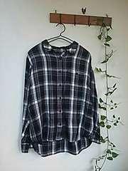 〇JEANASIS〇モノトーンチェック柄のとろみシャツ*・゜美品