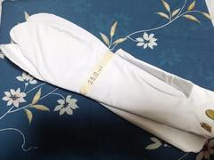 未使用♪[白]足袋25�p《新富町の大の屋》