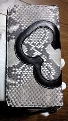 「ウィンターセール」ダイヤモンドパイソン ファスナー長財布 錦蛇・牛革 ナチュラル02434