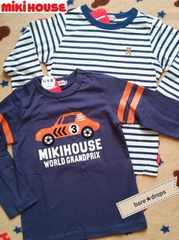 新品【MiKiHOUSEミキハウス】ボーダー&車柄ロングTシャツ2枚セット120cm¥10044