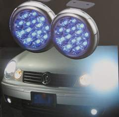 LEDデイライトバルカンタイプ ブルー 丸型デイランプ 防水