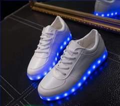 2color 22.5〜28cm 光る靴 LED靴 LEDスニーカー 光るスニーカー