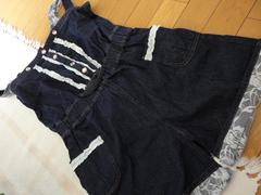 【160】 デニムパンツワンピ 【即決送料込み】