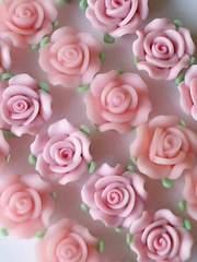 zh◆8mm樹脂バラ.薔薇パーツ◆ライトピンクpretty姫2色◆8コ◆