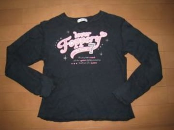 モバオクで買える「長袖Tシャツ/黒★140cm」の画像です。価格は100円になります。