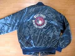 USA製 ボーリング刺繍 サテンジャケット USA-L