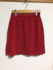 赤ニットスカート M