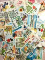 海外の使用済み切手約40枚