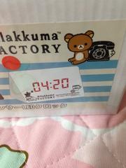 リラックマ☆サウンドセンサーLEDクロック♪【ホワイト】時計