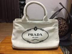 プラダ PRADA ショルダー付 カナパ ミニ ホワイト ノベルティ