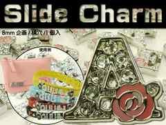 Aスライドチャームパーツバラ1個 首輪やコインケースに Adc9027