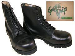 ゲッタグリップおでこ靴7ホール ブーツ新品7507BLスチール入uk5