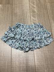 ベビチビ女の子キュロット90小花柄スカートパンツ西松屋
