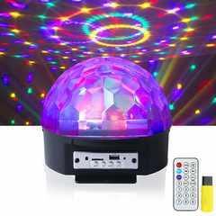 送料無料★ステージライト音楽のリズムで光拡散ミラーボール
