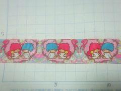 【ハート】22mm巾 キキララ 柄リボン1M