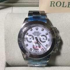 新品 ロレックス 116509コスモグラフデイトナ白ダイヤノベルティ