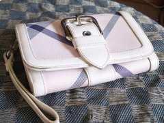 ブルーレーベル 本革製二折財布(中長)   ピンク基調・中古