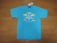 新品TOY PLANEトイプレーンTシャツM青サークルロゴフラッグ