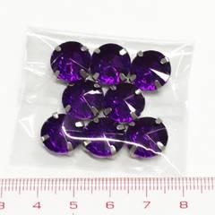 29*�@スタ*通し穴8個*綺麗カット*カン付きアクリルビーズ*紫*363