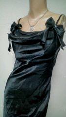 used 美品 サイドribbon胸元キラ�Aビジューマーメイド*ロングdress
