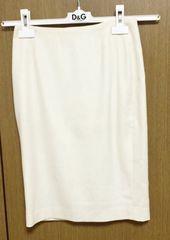 Mプルミエクリーム色 冬物 スカート 34サイズ