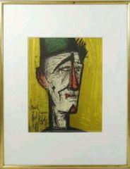 絵画 リトグラフ ベルナールビュッフェ『 ピエロジョジョ』版画 真作保証