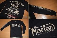 ノートン(NORTON)バイカー系ロングTシャツ Mサイズ 入荷�F