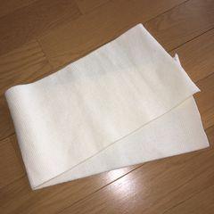 ハンドメイド生地 袖口用 ニット オフホワイト