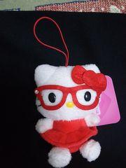 キティちゃん ★ カラフルメガネマスコット★赤