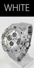 NEW★アナログ&デジタル・ビッグフェイス腕時計FSMB1WT