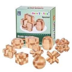 脳のトレーニングに 知的 パズル ゲーム 竹製品