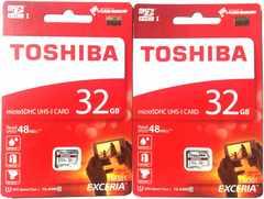 2枚セット 東芝 マイクロSDHCカード(microSD) 32GB クラス10 送料出品者負担