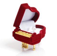 限定 新品 ★送料無料★ 可愛い プレゼント用 ピアノ型 指輪ケース