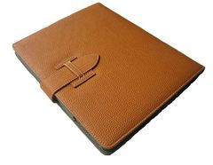iPad 1234 多機能 茶 レザーケース.ペン&保護フィルム付