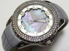 日本名門.スタージュエリーCZベゼル.二重構造シェル文字盤の極上レディース時計