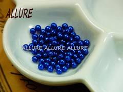 穴なしパール  3mm 青 レジン最適 50粒
