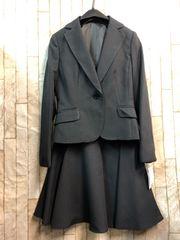 新品☆3号小さいプチ ストライプ スカートスーツお仕事もb830