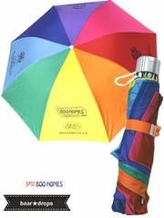 非売品レア!新品ノベルティ【BOOFOOWOOブーフーウー】虹色折りたたみ傘
