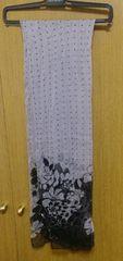 ストールグレー花柄 48×160