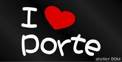 I LOVE Porte まるもじステッカー ポルテ