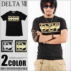 メール便送料無料【DELTA】Tシャツ70630新品黒金M