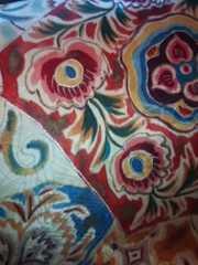 アイボリーラブリー*アート柄正絹レトロ帯美品レタR