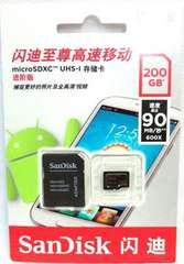 マイクロSDXC 200GB サンディスク (microSDXC200ギガ) 普通郵便送料無料
