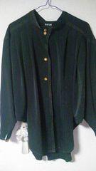 黒♪シンプル♪シャツ★ボタン花♪ドルマン♪
