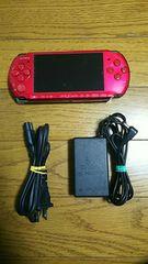 ☆SONY PSP-3000番 本体 レッド中古品 1円スタート☆