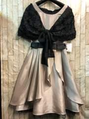 新品☆11号落ちないケープ付パーティワンピ素敵ドレス☆b760