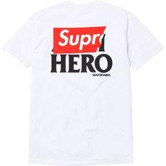 希少 白M 14S/S Supreme×ANTIHERO Pocket Logo Tee アンタイBox
