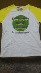 新品  men's  Lサイズ半袖Tシャツ  白×黄色